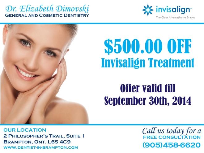 Invisalign, Offer, Specials, Brampton, Dentists,